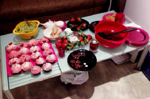 Allegra's Valentine's Day spread in Hong Kong.JPG