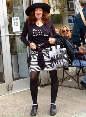 Pattie in Call Your Mother t shirt.jpg
