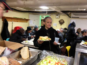 Woman at soup kitchen last year.JPG