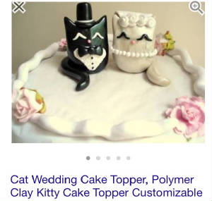 wedding cake topper with cat bride and groom.jpg