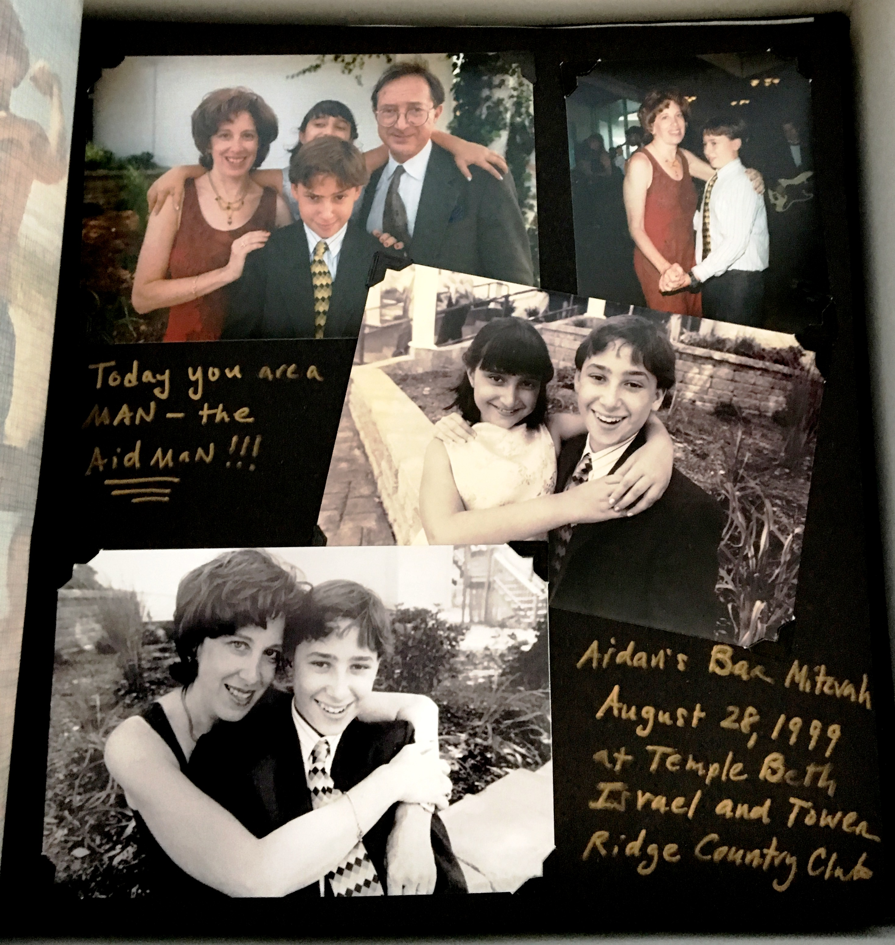 Album page with Aidan's bar mitzvah.JPG