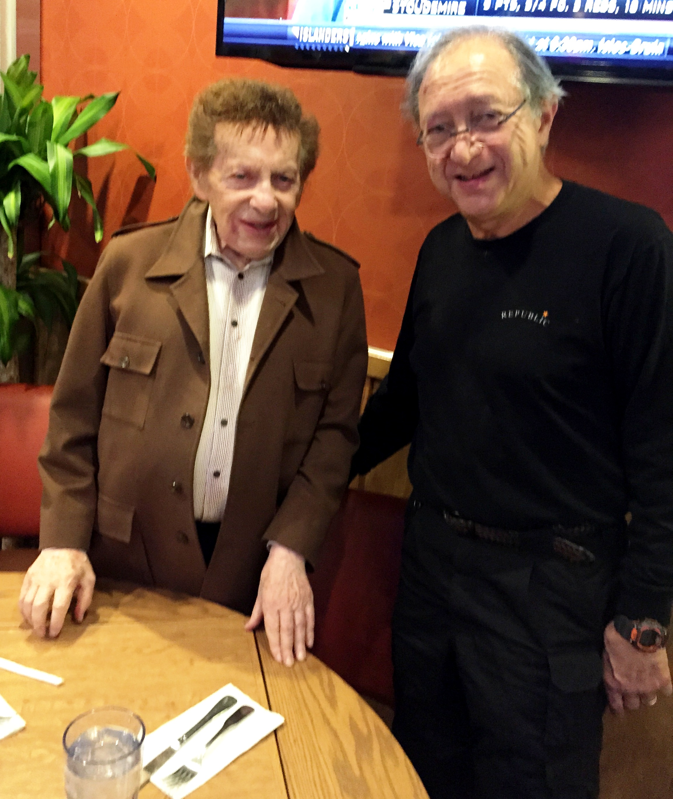 Jackie Mason and Harlan at the Westway Diner.JPG