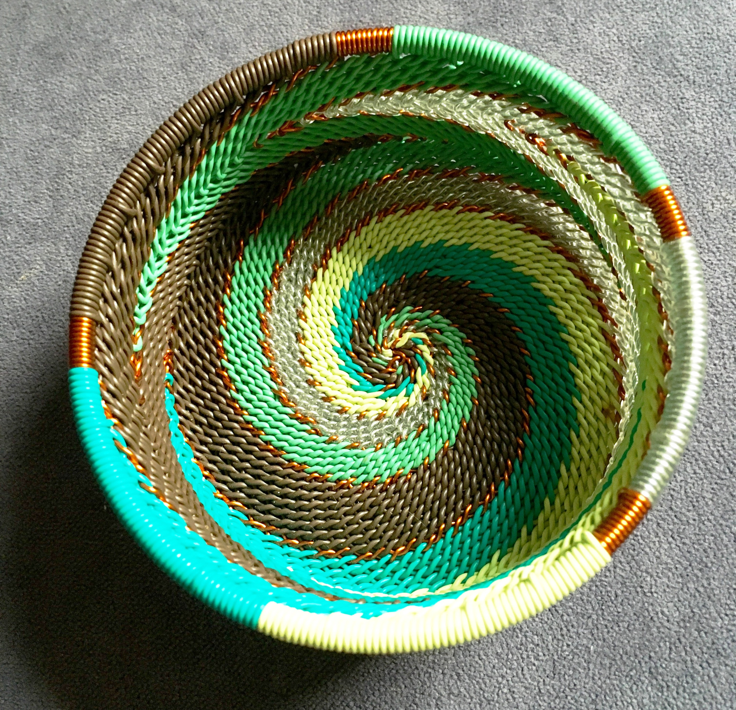 Jewerly dish from recycled telephone wire.jpg